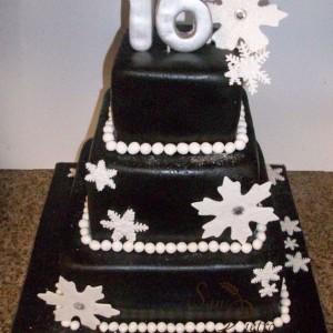 Doux flocons de neige Gâteau / Sweet Snowflakes Cake