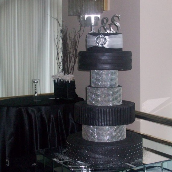 Noir et Blanc gâteau Diamant / Black and Diamond Wedding cake