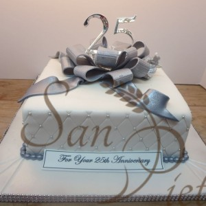 25th Wedding Anniversray cake