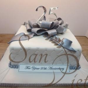 25th Wedding Anniversray cake