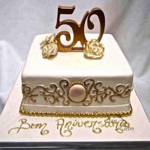 gâteau du 50e anniversaire ore dentelle / 50th Anniversary gold lace