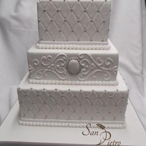 gâteau blanc cameo / White wedding cameo cake