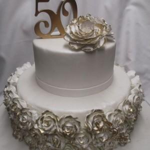 gâteau 50ième anniversaire / 50th Wedding Rose cake