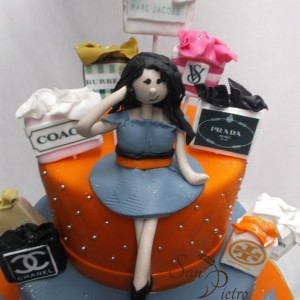 gâteau shopping / Shopping girl cake