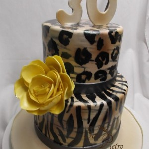 deux étages léopard et le zèbre / Two Tier Animal print cake