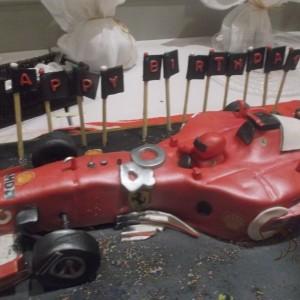 gâteau F1 Ferrari / F1 Ferrari cake