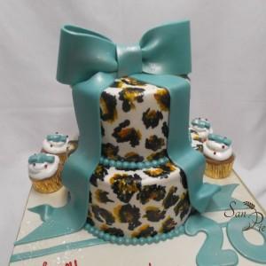 Leopard gâteau et cupcakes / Leopard cupcake cake