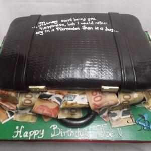 Gâteau de mallette pleine d'argent / Briefcase cake