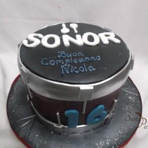 Le tambour gâteau pour Nicola