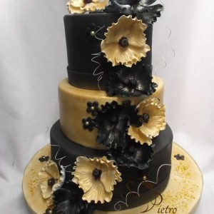 Noir et Or gâteau / Black and Gold cake