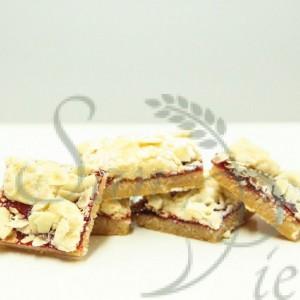 framboise et amande carré / raspberry almond squares
