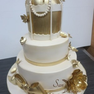 Cage de gâteau d'or / Bird cage gold cake