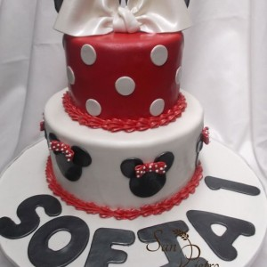 gâteau Minnie Mouse pour Sofia / Minnie Mouse cake for Sofia