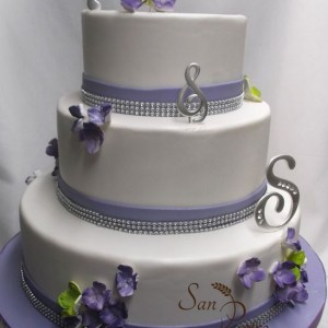 Violet et Lime gâteau de mariage /Purple and Lime Wedding cake