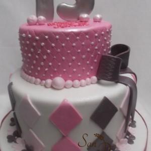 2 étages gâteau Quinceanera / Quinceanera Two tier