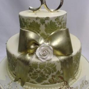 gâteau 50ième Damask / 50th Damask cake