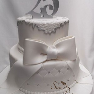 gâteau 25ième Anniversaire / 25th Wedding Two tier