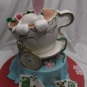 Alice au pays des merveilles gâteau / Alice in Wonderland cake