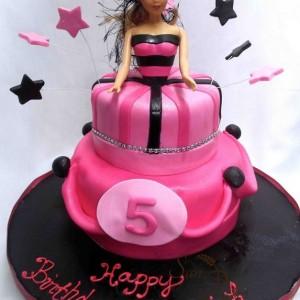 gâteau Barbie pour Mariah / Barbie cake dress for Mariah