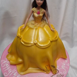 gâteau robe de Belle / Belle Dress cake for Sophia