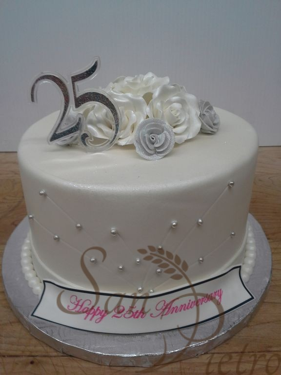 25th Wedding Anniversary Cake 50th Lace One Tier