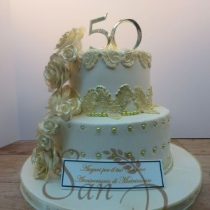 50th Wedding Anniversary Cake Lace