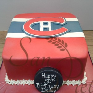 Canadiens logo cake