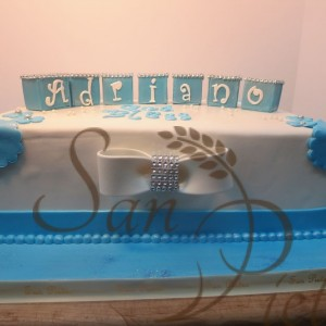 Batpsim cake for Adriano