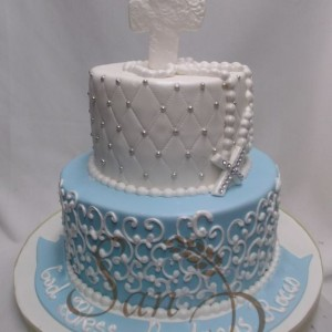 Baptism cake for Rocco