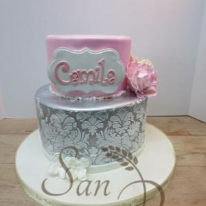 Baptism cake for Camila