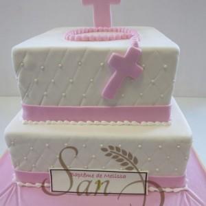 Baptism cake for Melissa