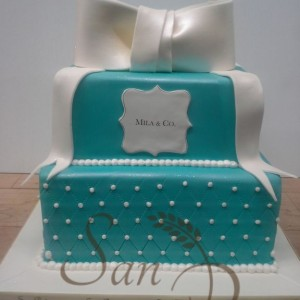 Two Tier Baptism Cake for Mila