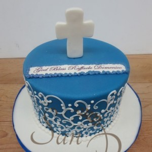 One Tier Baptism cake for Domenico