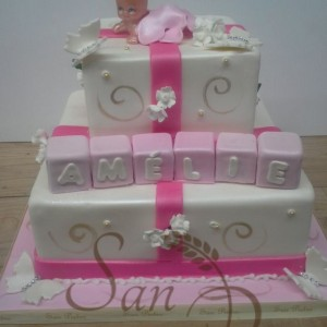 Baptism cake for Amelie