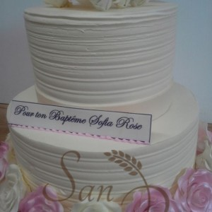 Baptism Cake for Sofia Rose
