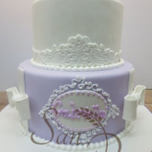 Baptism cake for Gabriella