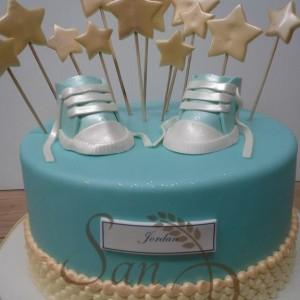 Baptism cake for Jordan