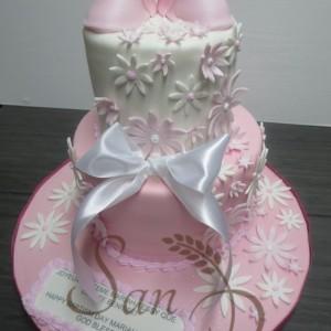 Two Tier Baptsim Cake Mariah-Tessy
