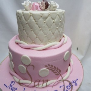 Two Tier Baptism Cake for Zoey
