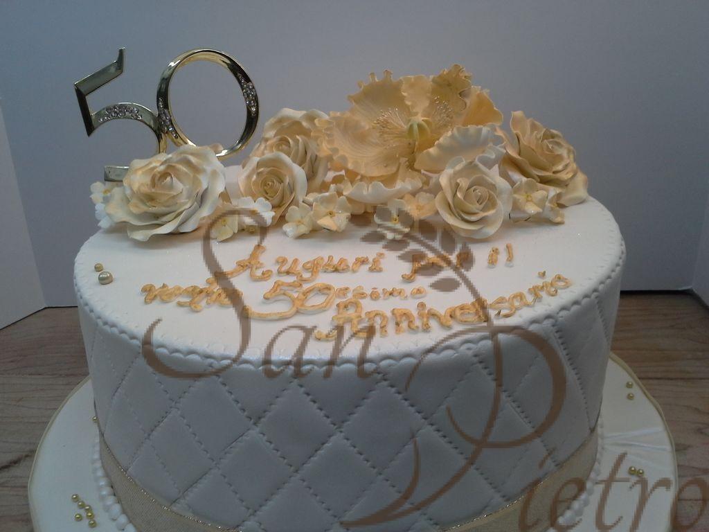 93 1 Tier 50th Birthday Cake