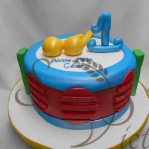 1st Birthday Drum Cake