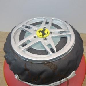 Ferrari Wheel Cake