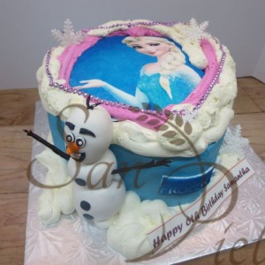 Frozen Cake and Olaf for Samantha