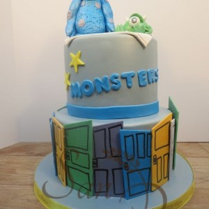 Two Tier Monsters Cake