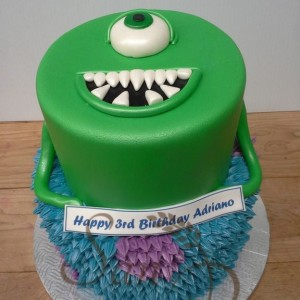 Mike and Sully Monsters Cake