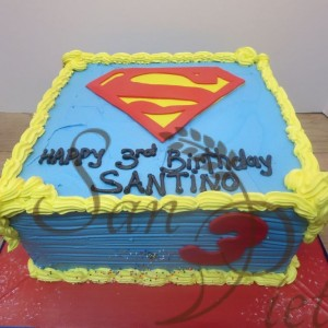 Superman Butter Cream Cake