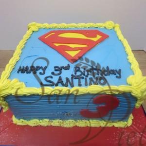 Superman Butter Cream Cake