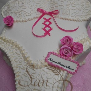 Pink Lace Bustier Cake
