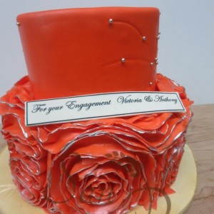 Engagement Ruffle Orange Cake