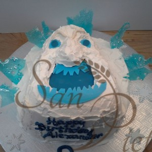 Marshmallow Frozen Monster Cake